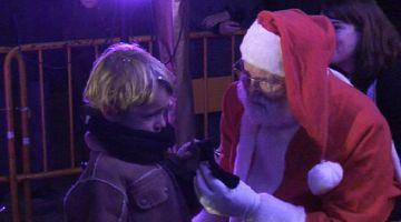 El Pare Noel porta la il·lusió del Nadal al SantCu