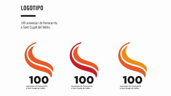 El logotip de Nelly Perez guanya el concurs d'FGC del centenari de l'arribada del tren a Sant Cugat