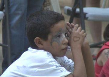 Un dels nens sahrauís