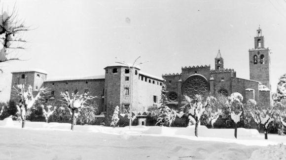 Mira com va nevar a la ciutat el Nadal de fa 50 anys
