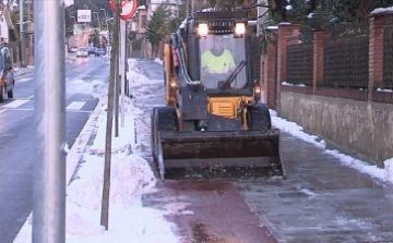 Cugat tv mostra com la ciutat es recupera de la gran nevada