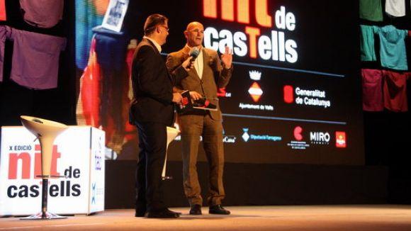 Raül Romeva recull el premi Ambaixador a la Nit dels Castells