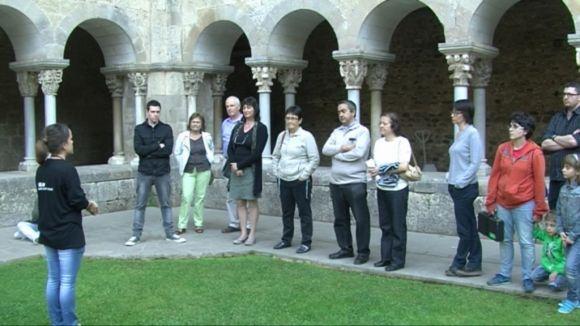 Visitants d'arreu de Catalunya descobreixen el patrimoni cultural de Sant Cugat