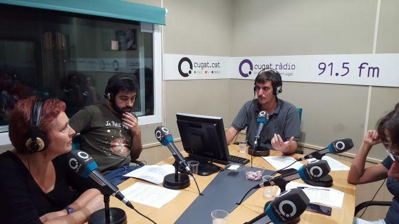 La membre dels Caparrots Marta Jener, a l'esquerra, convidada al programa