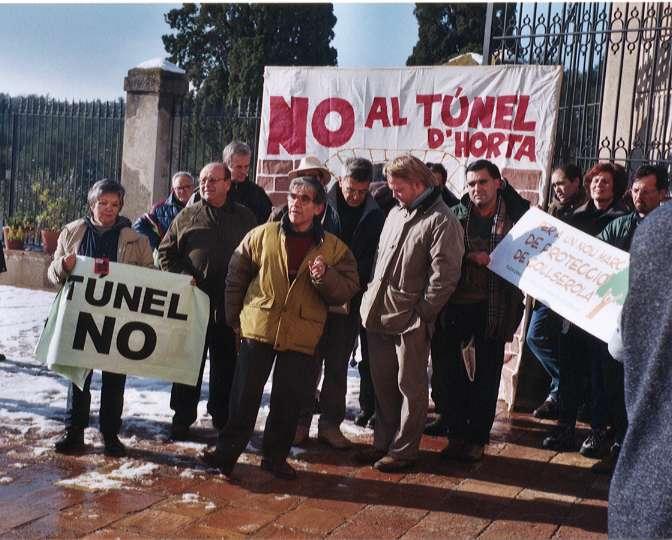 L'anunci de construcció del Túnel va aixecar les crítiques dels veïns d'Horta i Guinardó.