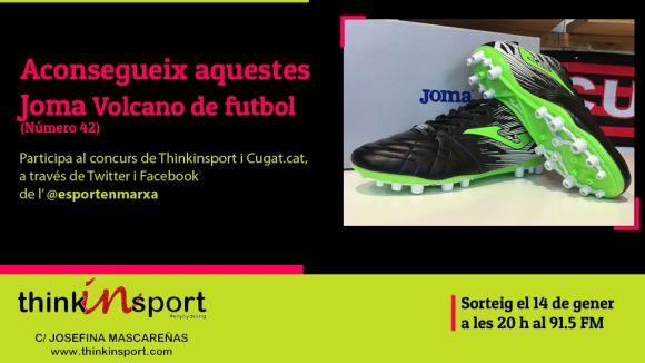Thinkinsport i 'Esport en Marxa' sortegen unes botes de futbol Joma aquest desembre