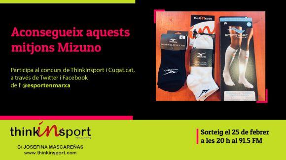 Thinkinsport i 'Esport en Marxa' sortegen uns mitjons Mizuno aquest mes