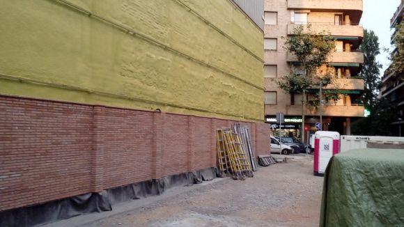 Recta final de l'adequació del tram final del carrer de Manel Farrés