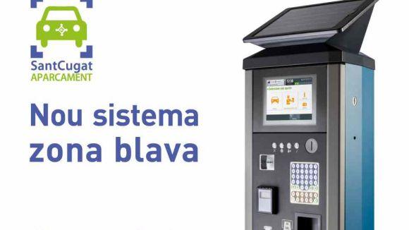Entra en funcionament un nou sistema de gestió de la zona blava a Sant Cugat