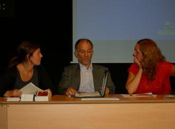 Maria Farriol, Xavier Escura i Anna Castells han presentat la nova programació a la Casa de Cultura