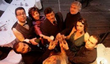 Grup de teatre Nyoca en una obra anterior