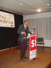 L'eurodiputat socialista ha protagonitzat l'acte de campanya pel referèndum organitzat pel PSC de Sant Cugat
