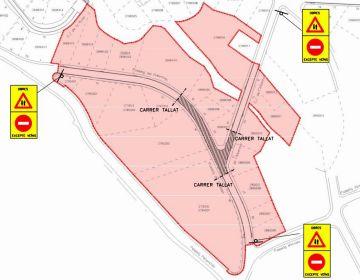 Talls de trànsit a La Bòbila-La Serreta per obres a la zona