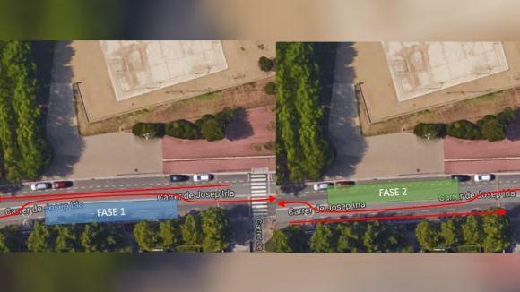 El carrer de Josep Irla quedarà afectat al trànsit per obres durant dues setmanes