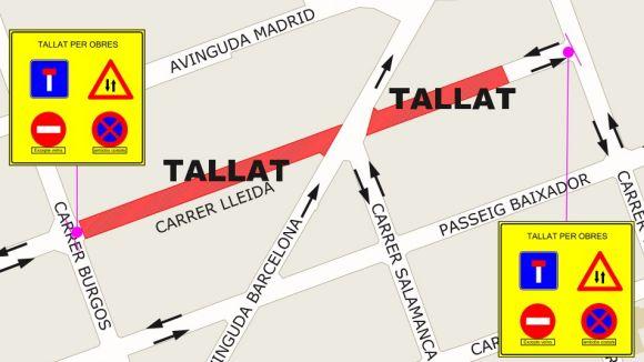 Talls de trànsit als carrers de Veneçuela i Lleida aquest dilluns