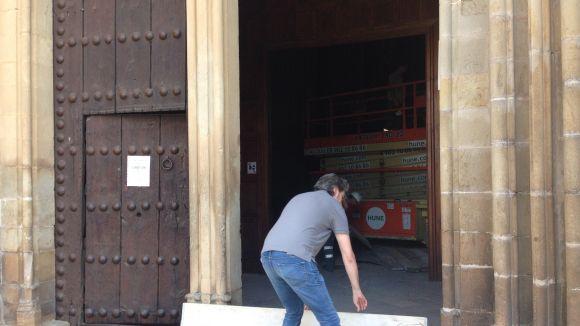El Monestir tanca les portes per obres i reubica cerimònies religioses