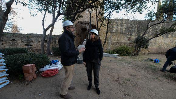 Comencen les obres de consolidació de la part est de la muralla del Monestir