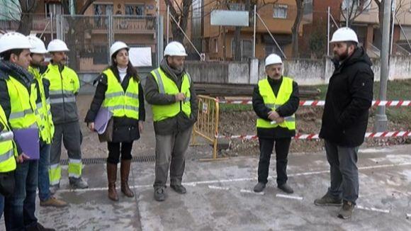 El regidor d'Esport, Eloi Rovira, i el comissionat de participació ciutadana, Joan Puigdomènech, han visitat les obres
