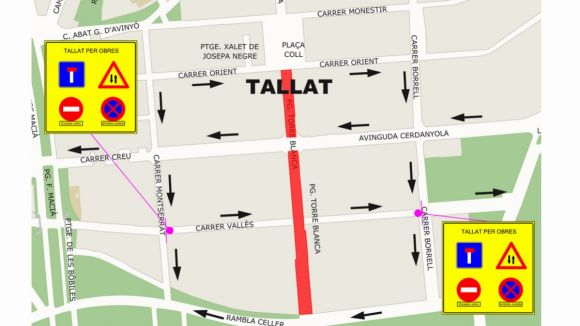 El passeig de Torreblanca quedarà tallat per obres dilluns que ve