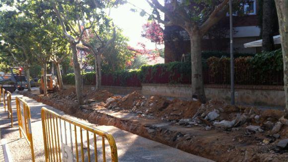 La rambla de Ribatallada completa avui el seu asfaltat