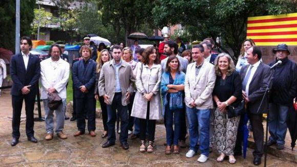 Partits i entitats renoven el compromís nacional amb l'ofrena a Rafael Casanova