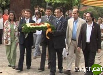 El nou finançament i l'absència de l'estelada marquen l'ofrena floral a Rafael Casanova