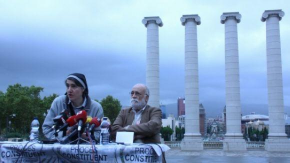 Els dos impulsors de Procés Constituent han presentat l'acte en roda de premsa / Font: ACN