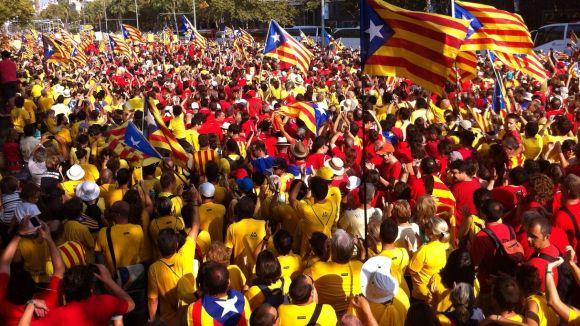 ANC i Òmnium ja tenen el recorregut de la caminada a Barcelona de l'Onze de Setembre