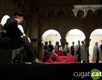 L'ópera del mite d'Orfeu reuneix més de 200 persones al Claustre del Monestir