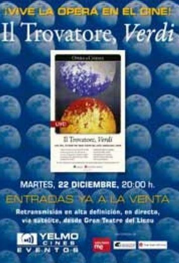 El Teatre-Auditori i el cinema Yelmo ofereixen avui la retransmissió de l'òpera 'Il Trovatore'