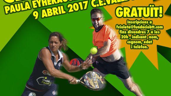 El Club Esportiu Valldoreix organitza un clínic de pàdel diumenge de la setmana que ve