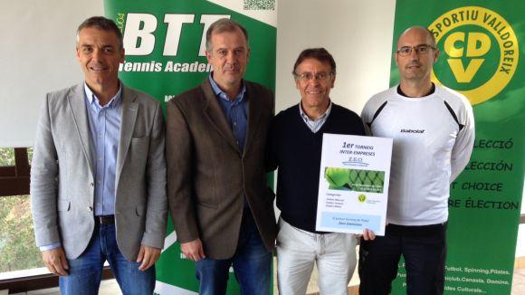 D'esquerra a dreta, Lluís Riba, Joan Carles Pradell, Josep Maria Riba i Roger Badia