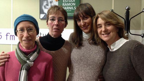Carme Soler, Núria Toutain, resposables del programa, i  Judith Hernández i Pilar Vallet, padrines