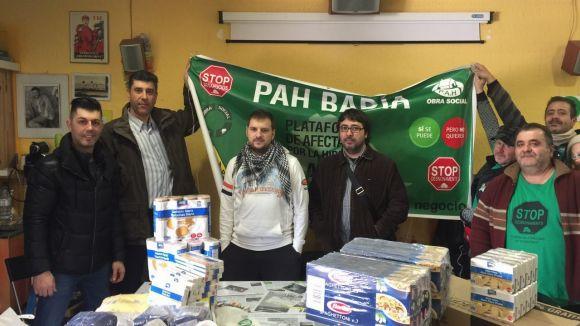 La CGT d'HP entrega aliments a les PAH de Rubí i Badia del Vallès