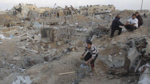 Manifestació en suport al poble palestí i de rebuig a la guerra