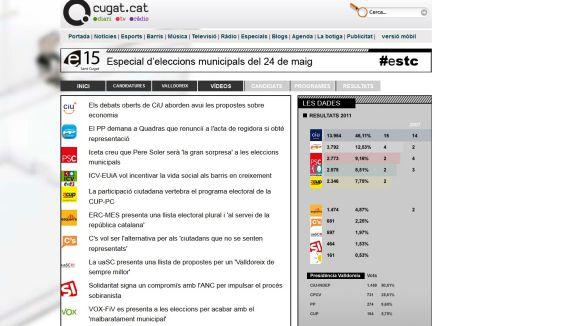 Cugat.cat ofereix una cobertura especial de les eleccions municipals a Sant Cugat