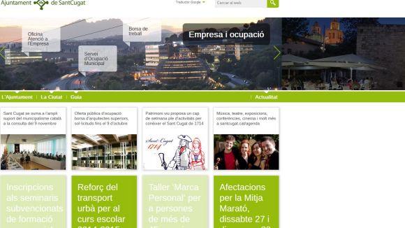 La web de l'Ajuntament