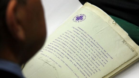 Part dels papers de Salamanca resideixen a l'ANC, ubicat a Sant Cugat / Foto: ACN