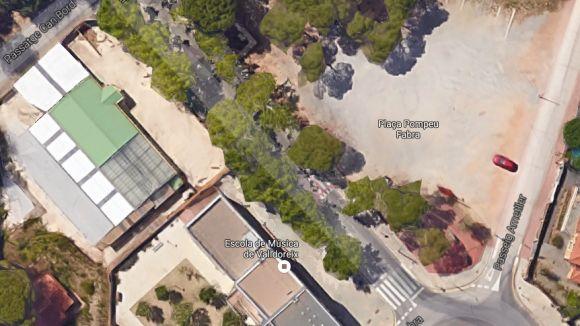 Els terrenys que expropiarà l'EMD són davant de la Casa de la Vila / Foto: Google Maps 3D