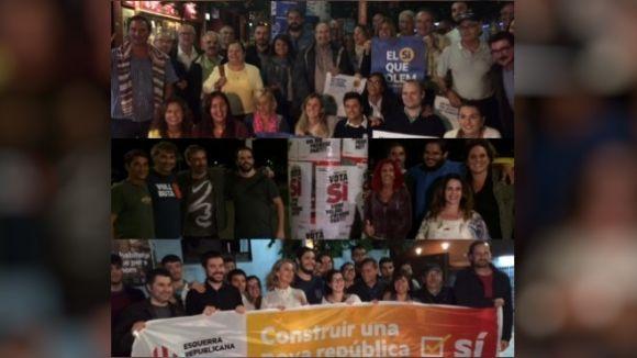 Els partits sobiranistes celebren actes d'inici de campanya de l'1-O amb una crida a la mobilització