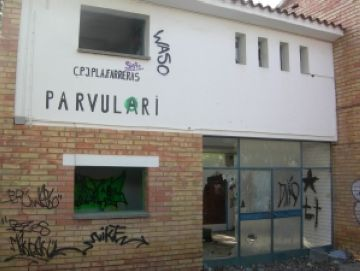 Preparat l'enderrocament de l'antic parvulari ubicat entre el CEIP Collserola i l'IES Joaquima Pla Farreras