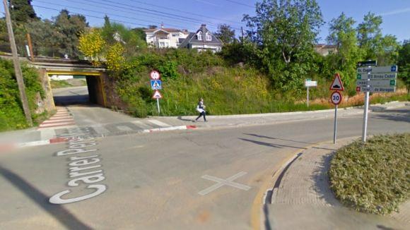 Valldoreix prohibeix el pas de vehicles pel túnel del passeig de Can Brou, que serà només per a vianants