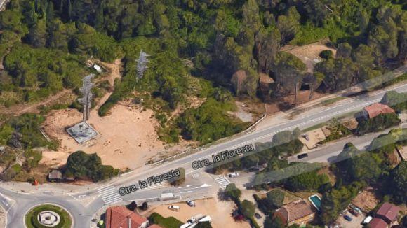 Els terrenys on l'EMD vol fer el pàrquing / Foto: Google Maps 3D