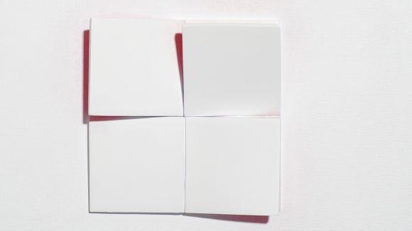 Patrizia Lohan treballa les formes geomètriques / Font: Galeria Canals