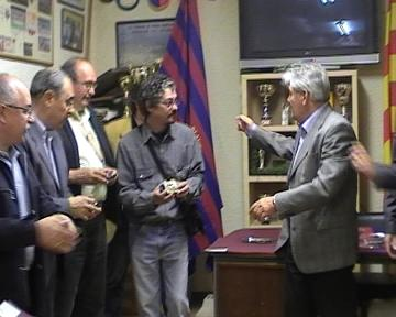 Martos, Rius, Castro i Subirats reben l'homenatge de la Penya Blaugrana