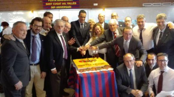 La Penya Blaugrana Sant Cugat organitza un triangular de veterans amb l'Agrupació del Barça