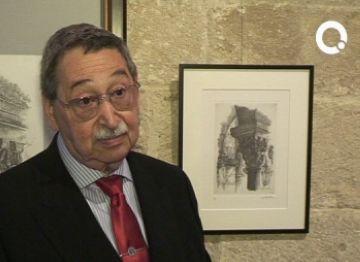 Pep Blanes exposa dibuixos de vuit capitells a la sala capitular del Claustre