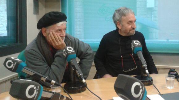 El fotògraf Pep Pujol (esquerra) i el galerista Josep Canals (dreta), en l'entrevista al 'Sant Cugat a fons'