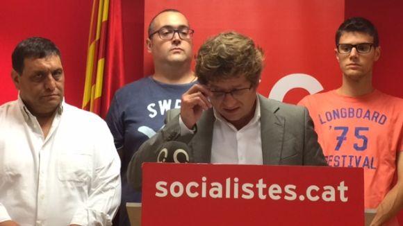 El PSC reclama diàleg a Puigdemont i Rajoy i assegura que el pacte amb el PDeCAT està blindat