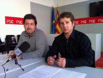 Miquel Cáceres amb el regidor socialista Pere Soler